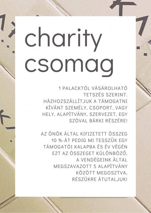 charity csomag borcsomaggal 10.000,- Ft értékben